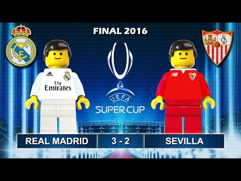 Uefa Super Cup Final 2016 : REAL MADRID vs SEVILLA 3-2 ( Film in Lego Football Highlights )