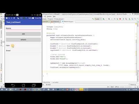Android App Development: ListView CRUD (Add, Update, Delete)