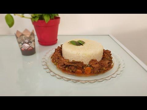 recette-foie-de-volaille-aux-légumes-accompagné-de-riz-rond