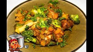 Готовим правильно капусту брокколи с мясом и картошкой