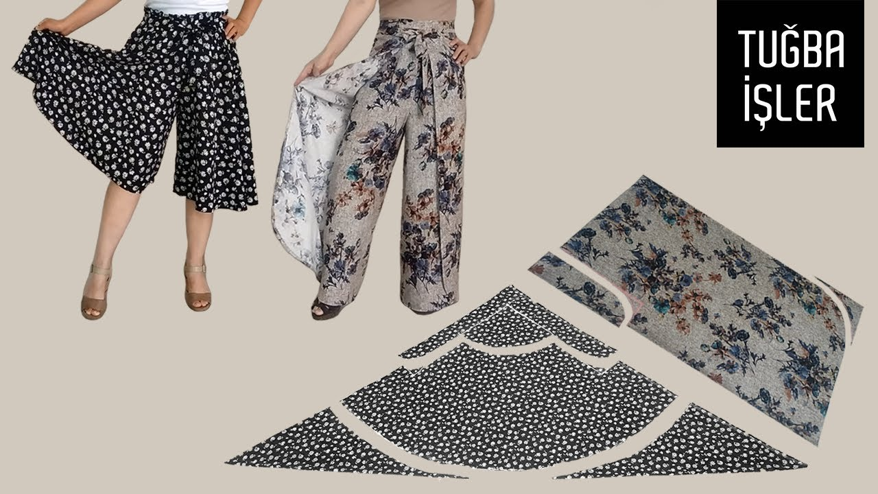 Very Easy Summer Trousers Cutting and Sewing | Tuğba İşler