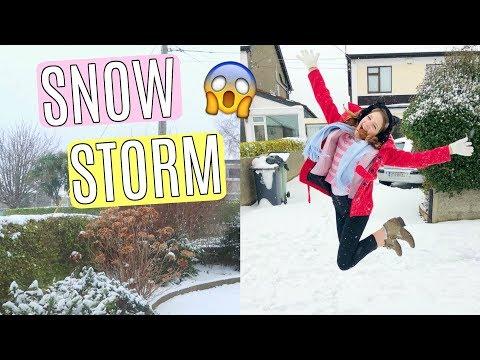 Trip to Ireland Vlog   Surprise Snow Storm! Dublin Vlog Part 2