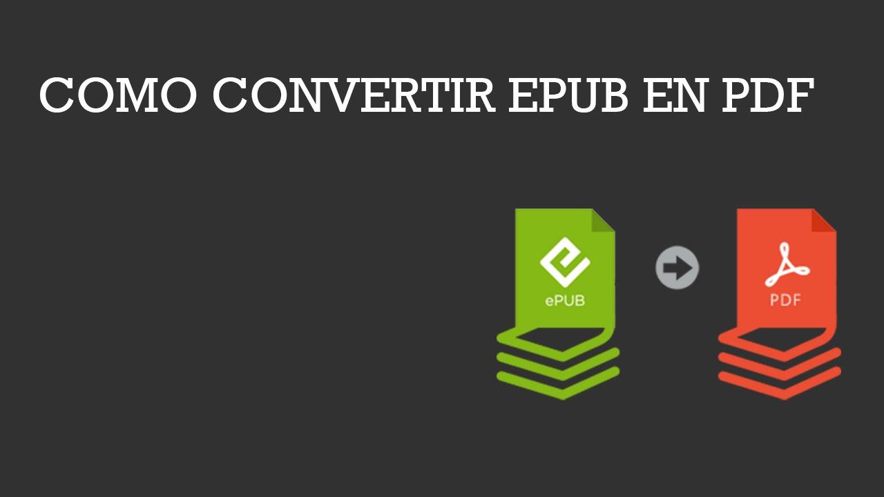 Como convertir archivo epub en pdf - YouTube