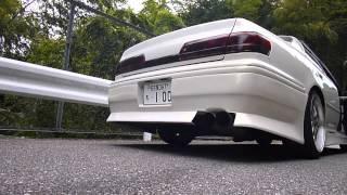 JZX100 マークⅡ 直菅マフラー 爆音 1Jサウンド