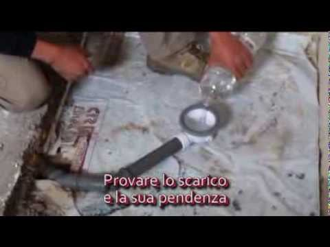 Piatto doccia cubing montaggio scarico e muratura youtube for Box doccia in muratura foto