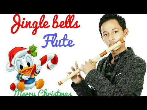 Merry Christmas 2017|Jingle bells on flute with  notes tutorial |Keyboard rhythm