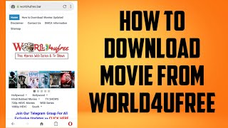 How to download movie from world4ufree