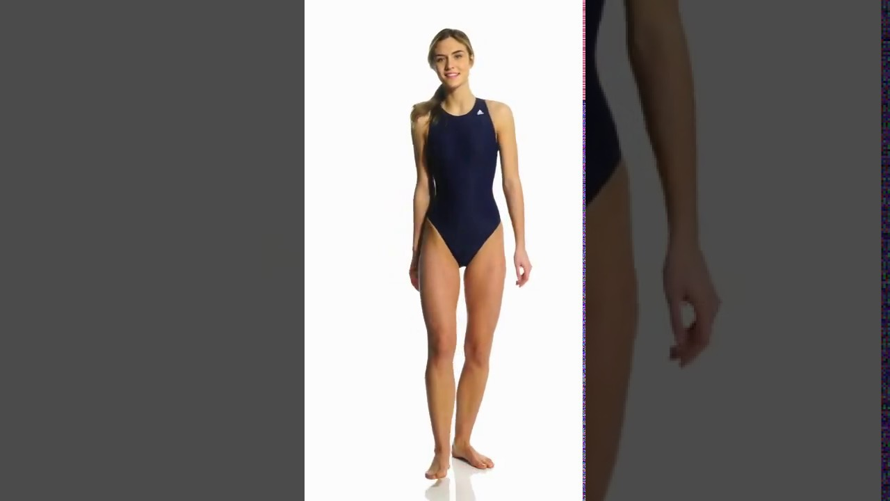 fb58047ea0241 Adidas High Neck One Piece Waterpolo Swimsuit