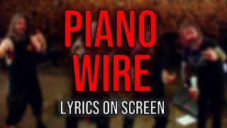 Slayer - Piano Wire (Lyrics on Screen Video 🎤🎶🎸🥁)