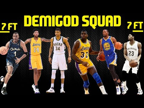 FULL DEMIGOD LINEUP! 7 FOOT 3 POINT CHEESE! NBA 2K17 MYTEAM ONLINE GAMEPLAY