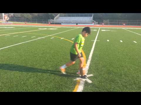 11 Year Old Kid Kicks 35 Yard Field Goals!