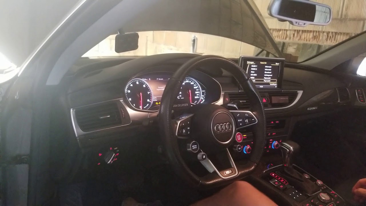 Audi R8 steering wheel in Audi A7 4G with working start ...
