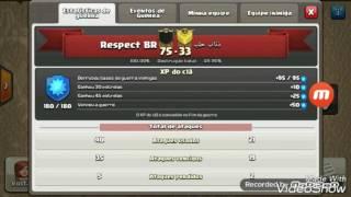 Mais alguns ataques da nossa guerra, Clã Respect BR.💪 Clash Of Clans!