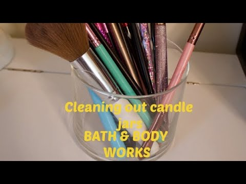 How To Clean Out Bath and Body Works Candle Jars 🕯 | Cleaning Out Candle Jars