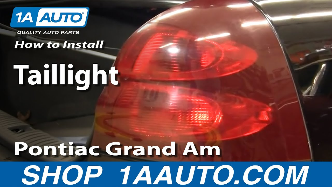 How To Replace Tail Light 04 08 Pontiac Grand Prix