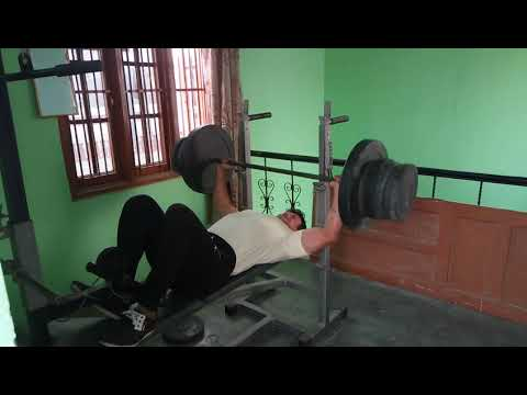 Personal record 120 kg bench press in 72 kg weight group