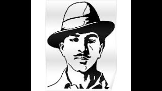 How to draw Shaheed bhagat Singh drawing step by step