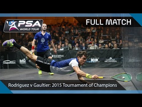 Squash: Full Match - 2015 Tournament of Champions - Rodriguez v Gaultier