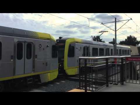 [P3010] Metro Gold Line arriving at Monrovia - 3/5/3016