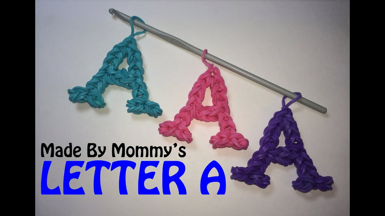 How To Make The Letter R Out Of Loom Bands