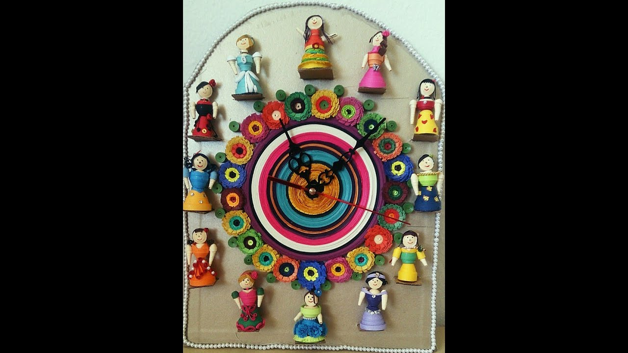 Quilling Doll Wall Clock - YouTube