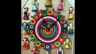 Quilling Doll Wall Clock