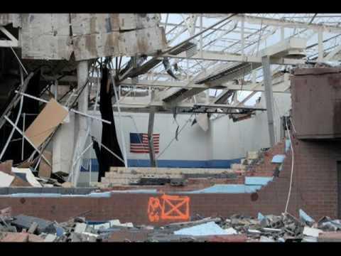 tornado damage wood county ohio lake high school 2   youtube