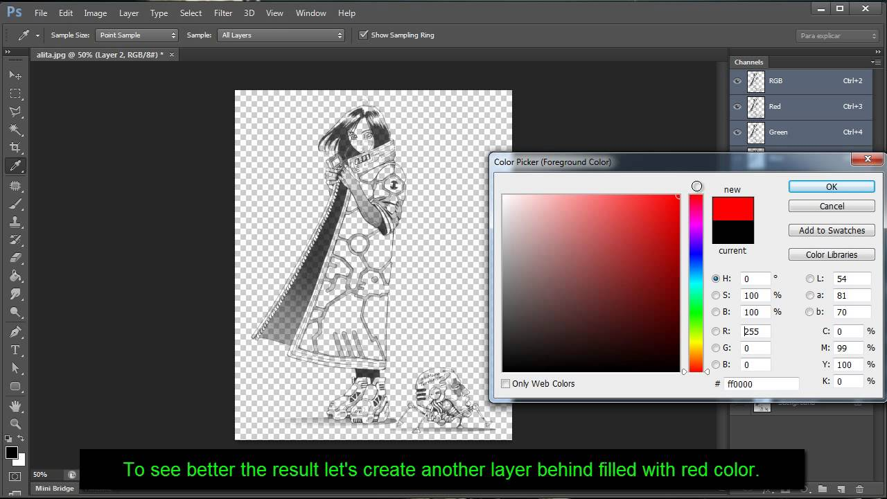 Photoshop Tutorial: Remove Background and make it transparent on drawings  or scanned images