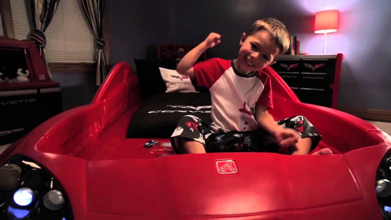 Cama coche infantil corvette de step2 youtube - Cama coche infantil ...