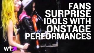 Fans Surprise Music Idols With Onstage Performances