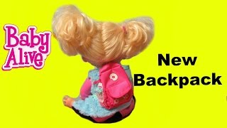 BABY ALIVE Real Surpises Doll Sophie's new backpack+ My Life As Back to School Accessories Unboxing!