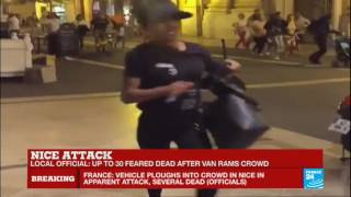 Nice attack: amateur footage shows panic in the streets as truck rams into crowd killing dozens