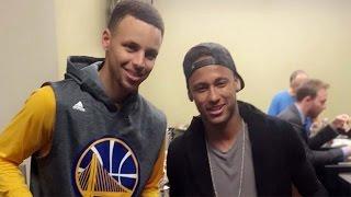 Neymar Hangs Out With Stephen Curry, Justin Bieber, & Michael Jordan