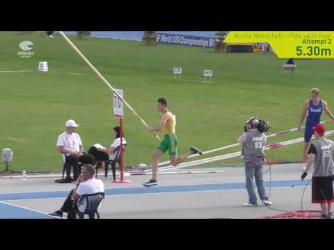 Australia at #Bydgoszcz2016: Kurtis Marschall pole vault silver jumps 5.55m