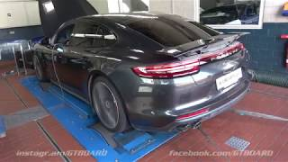 [4k] DYNORUN Techart Porsche Panamera Turbo T1-Powerkit 669 HP before 579 HP
