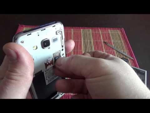 How To Insert Micro Sim Card In Slot Samsung Galaxy J5 Dual Sim