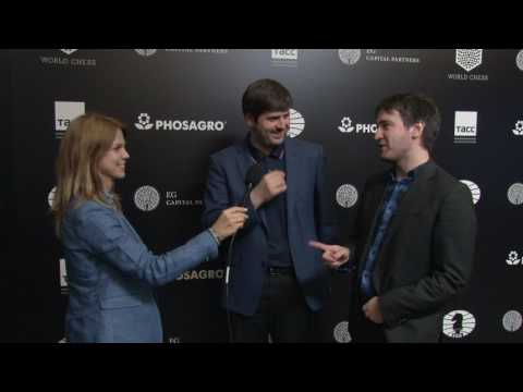 Day 5 Interview with GM Peter Svidler and GM Evgeny Teimour Radjabov