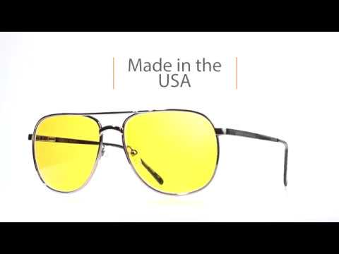 f0aef41a6f Hunters HD Gold Advanced Shooting Lenses - Aviator Frame - YouTube