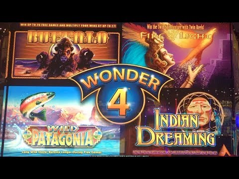 WONDER 4 ALL GAMES !!! - Many Bonuses,  Coin Shows and Wins - Aristocrat Slot Machine