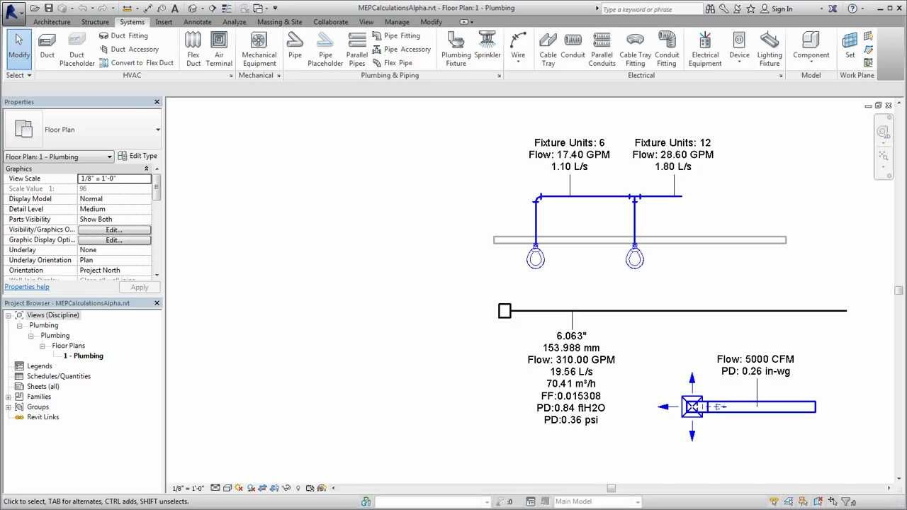 Autodesk Revit: Specifying Calculation Methods for Duct and Pipe