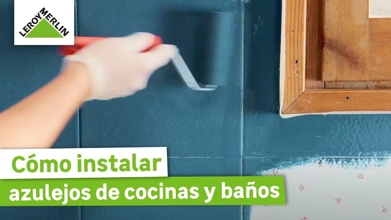 Cómo pintar azulejos de cocinas y baños · LEROY MERLIN
