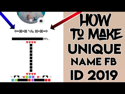 HOW TO MAKE UNIQUE NAME FACEBOOK ACCOUNT   SIMPLE TRICK 2019   RB TECH   