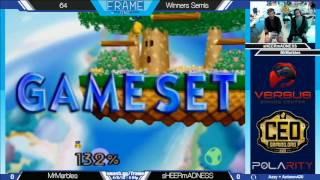 Frame One - Mr. Marbles vs sHEERmADNESS - 64 WSF