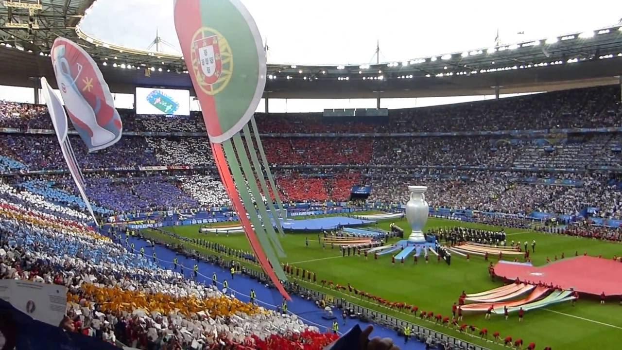 euro 2016 final match france vs portugal opening ceremony stade de france saint denis youtube. Black Bedroom Furniture Sets. Home Design Ideas
