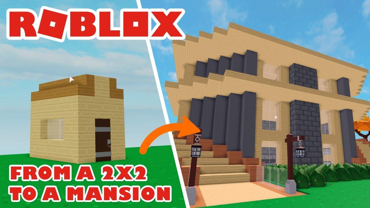 Roblox Skyblock Modern House Build Tutorial Youtube