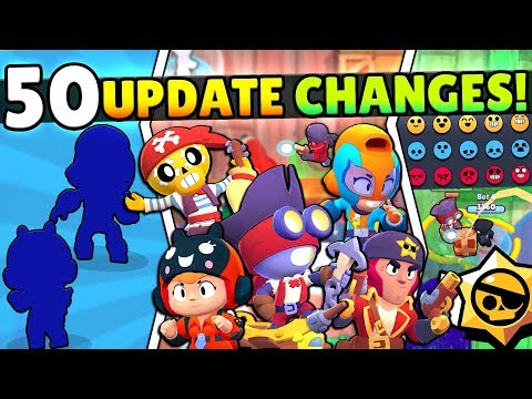 50 NEW UPDATE CHANGES! NEW BRAWLERS BEA & MAX, EMOTES, 5 SKINS & MORE! EVERY UPDATE CHANGE!