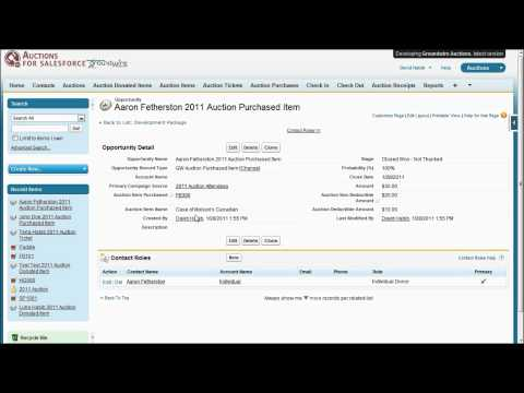 Groundwire Auctions for Salesforce 3.0 Detailed Demonstration