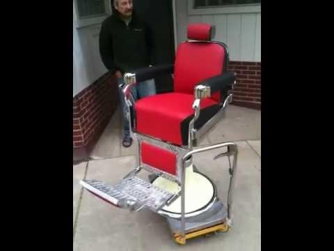 1950u0027s Belmont Barber Chair Restore Sneak Peek Uuuuugh! & 1950u0027s Belmont Barber Chair Restore Sneak Peek Uuuuugh! - YouTube