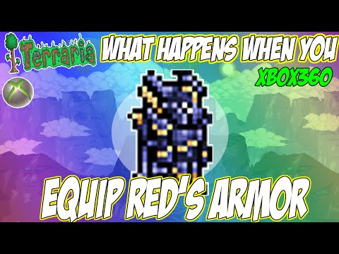 (TERRARIA) - Is It Possible To Wear Red's Armor On CONSOLE? - SHOCKING RESULTS?