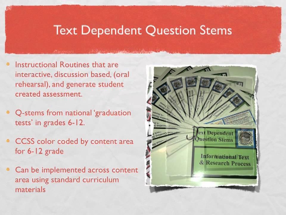 DynamicText Videos For Teachers Series Text Dependent Question Stems